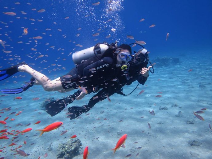 Diving with the reef's fish, a rich, colorful experience!