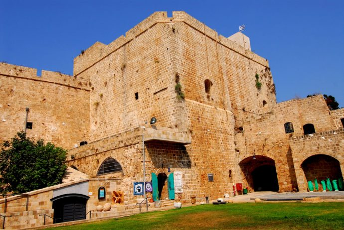The Crusader's castle in Akko, view from the outside.