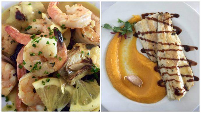 Fresh Mediterranean sea food served at The Efendi's restaurant