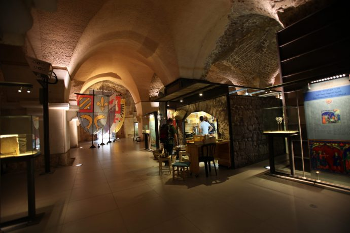The Knight Halls in Akko, Northern Israel, are now a museum where any visitor can get a taste of the crusaders' life.