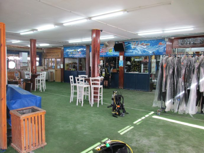 The interior of Marina Divers