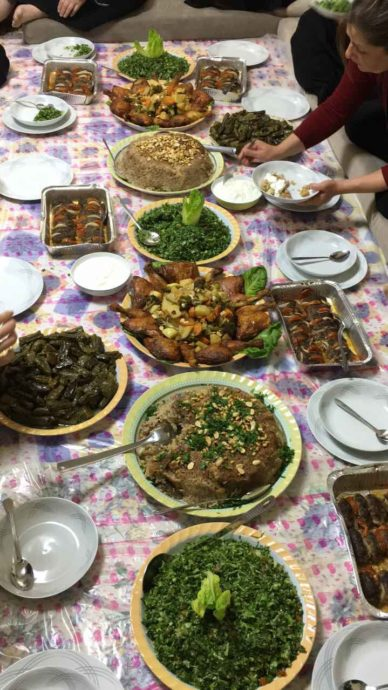 The Druze cuisine: a rich variety of dishes.