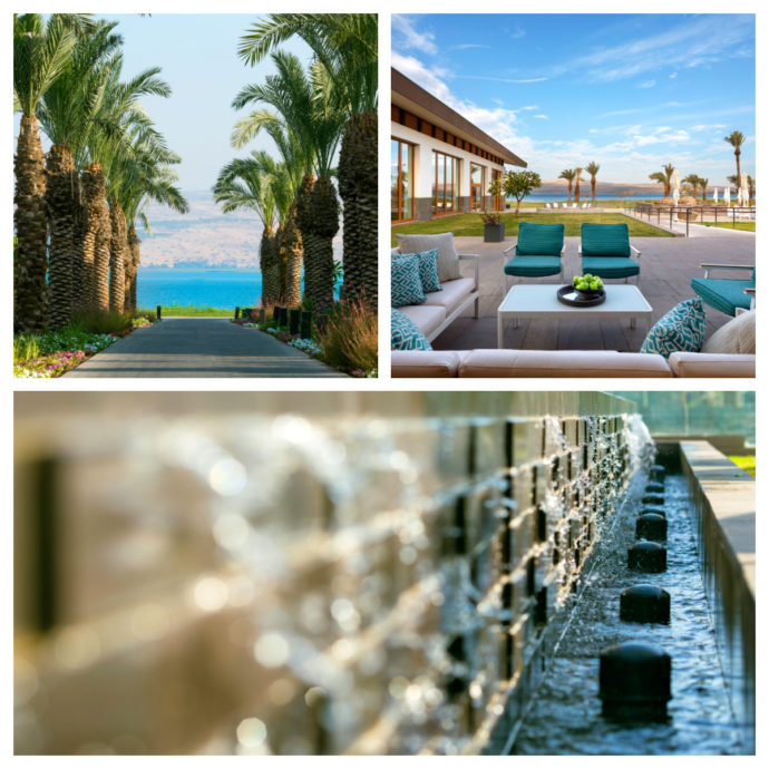 The Setai has a dreamy private beach right at the Sea of Galilee.