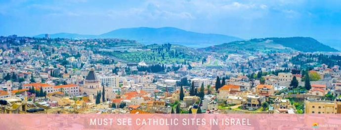 View of Nazareth, one of the must-see sites on any Holy Land Catholic Tour.