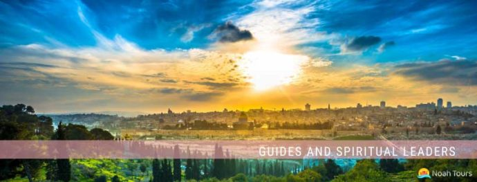 Enjoy the magnificent view of Old Jerusalem from the Mount of Olives, while choosing the best guides and spiritual leaders for your tour.