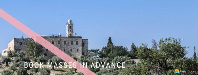 Book a mass for your Holy Land Catholic tour! In the picture: Mar Elias Monastery, Bethlehem.
