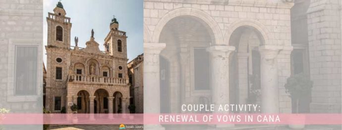 Many couples love to renew their vows at the Wedding Church in Cana.