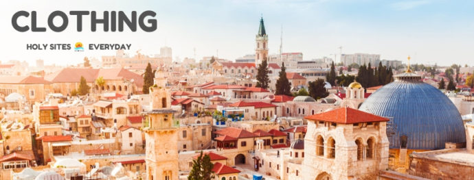 View of the Old City roofs and the Holy Sepulchre: What to wear when visiting?
