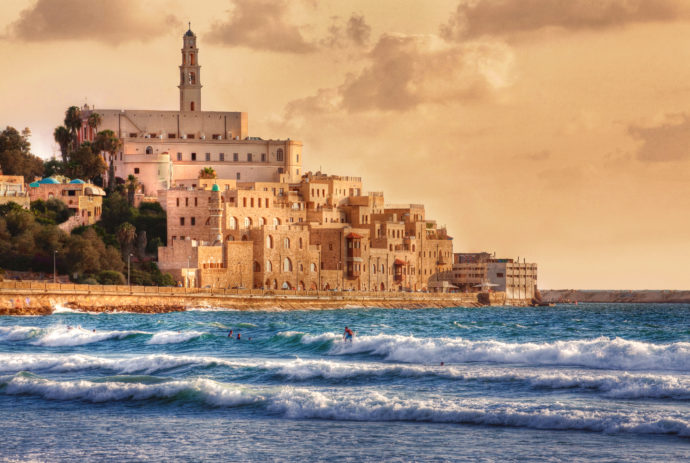 jaffa coastline and ancient port