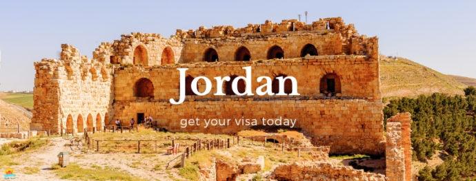 Kerak Castle in Jordan on a sunny Spring day.
