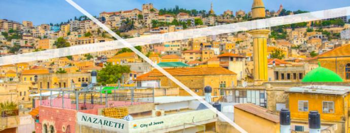 Panorama view of Nazareth, Israel