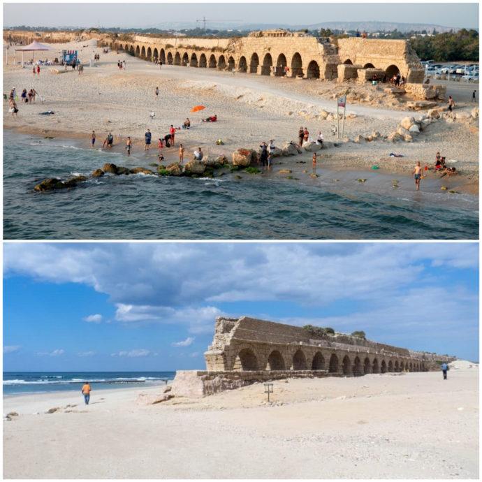 aqueduct-beach-caesarea-israel