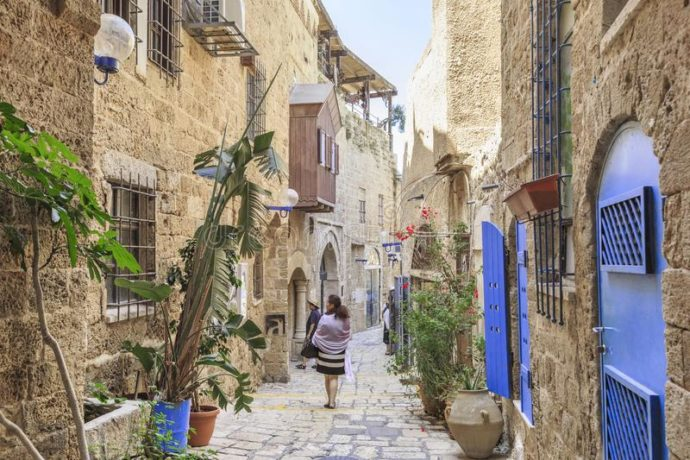 historic old city of jaffa alleyways