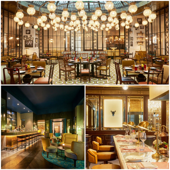 photos of dining locations at fairmont amman