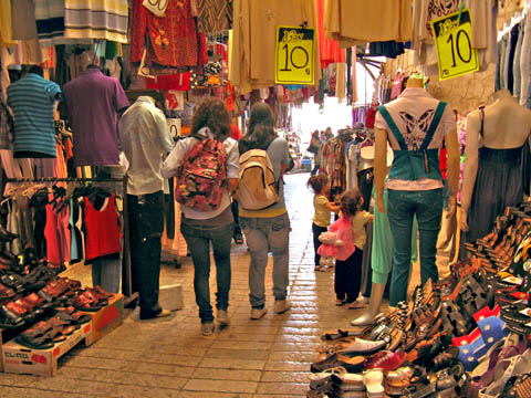 The Shuk in Old City Nazareth, Israel