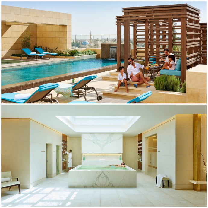 photo of rooptop pool and spa at fairmont amman