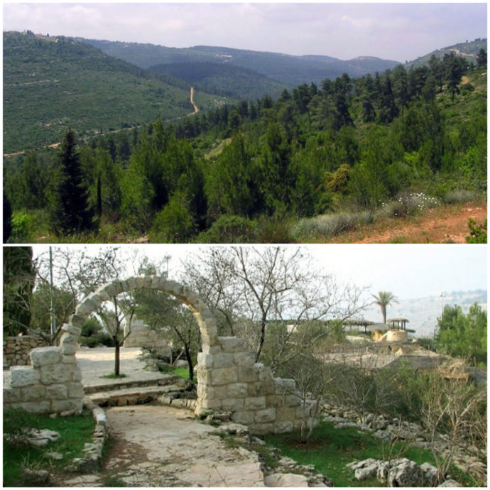 jerusalem mountains and yad hashmona