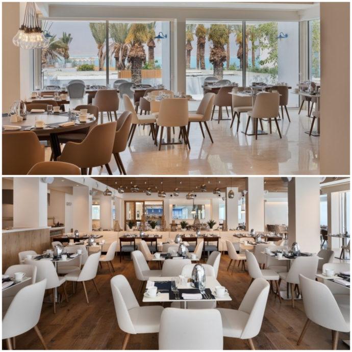 dining locations at Milos Hotel