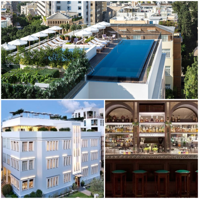 The Norman, a luxury hotel with a beautiful pool on the roof, perfect for Tel Aviv's weather.