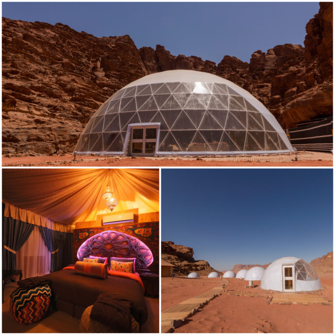Wadi Rum Camp: cozy tents and Martian Domes that allow star gazing - from the comfort of your bed!