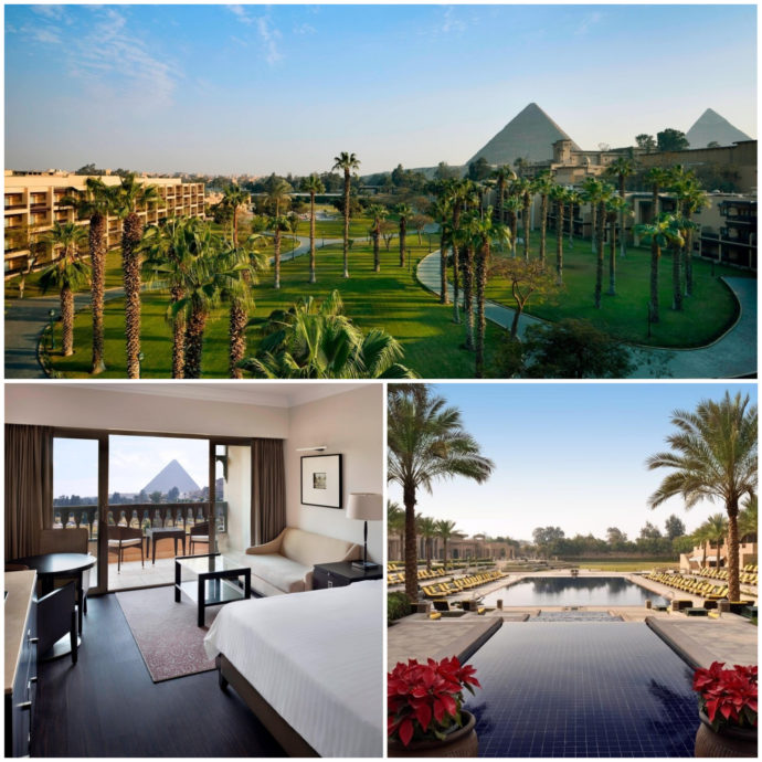 Marriott Mena House Hotel in Egypt offers a dreamlike view of the pyramids and the most luxurius amenities.