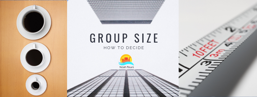 how to decide on your Israel tour group's size