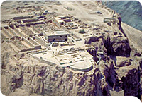 Ripresa aerea di Masada in Mar Morto
